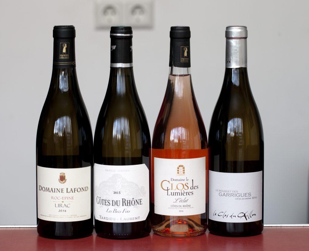 Wijnen geproefd bij garnalen