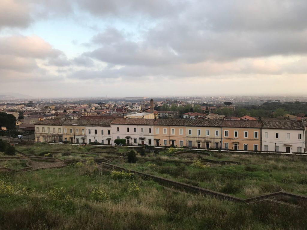 Het uitzicht over Caserta