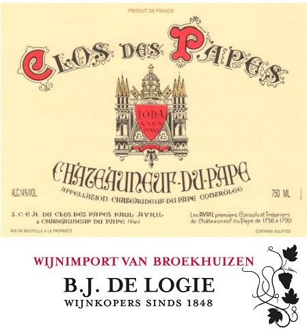 Verticale proeverij Clos de Papes – Châteauneuf-du-Pape