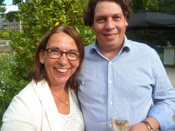 Jolande Vos (I Love Food and Wine), Roderick Ros (Wijnimport Bart)